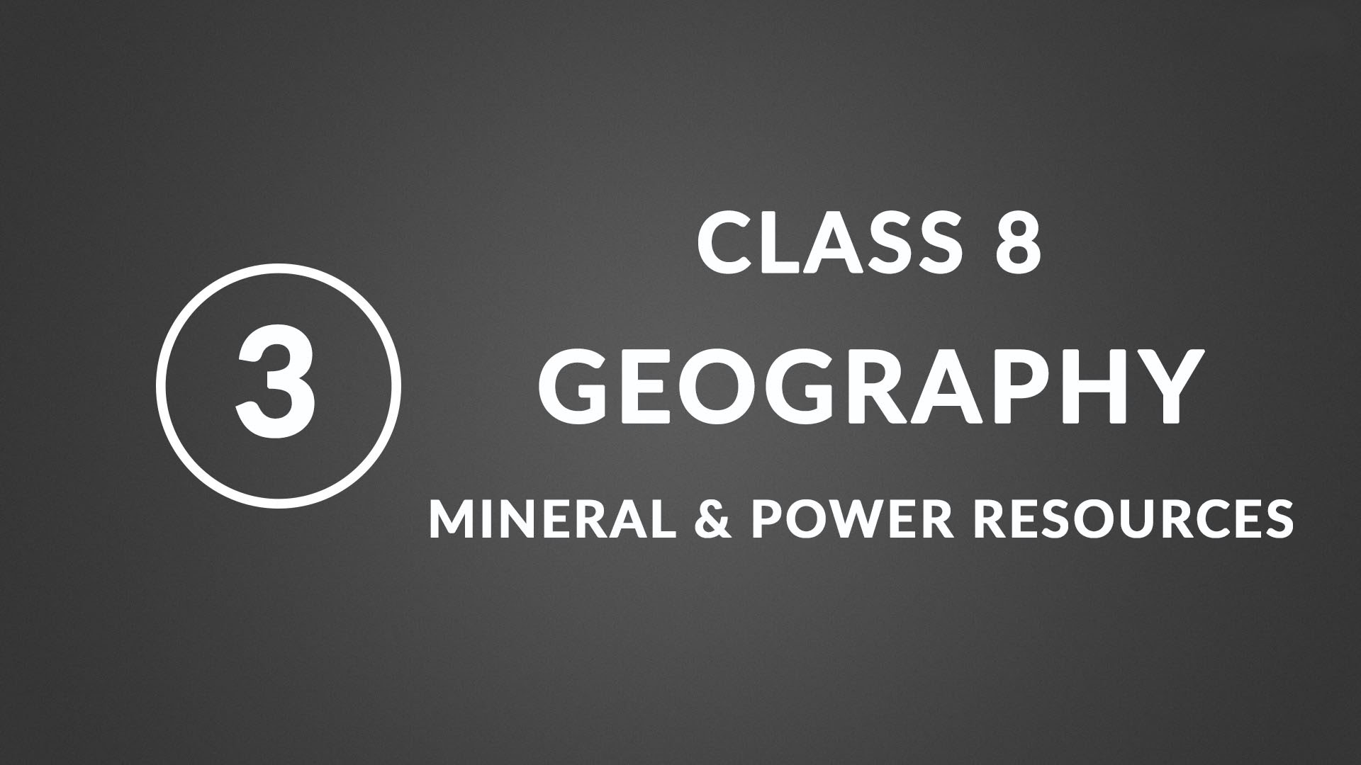 mineral and power resources ncert class 3