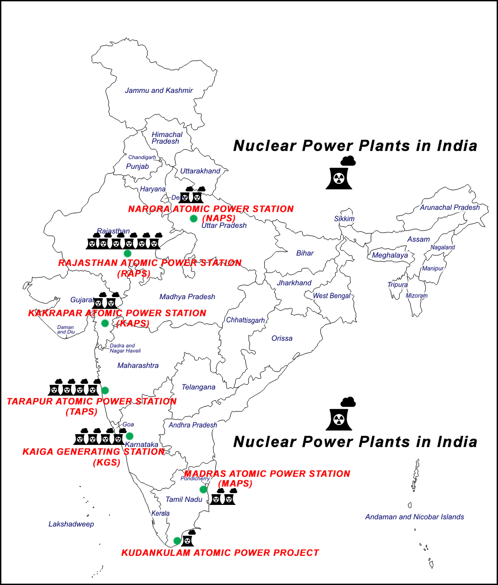 List of Nuclear Power Plants in India - Amit Sengupta