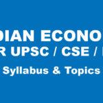 upsc economics syllabus